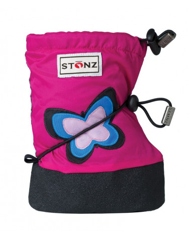 BUTY DLA NOWORODKÓW I NIEMOWLĄT BABY BOOTIES - Butterfly Fuchsia Baby Booties Stonz®