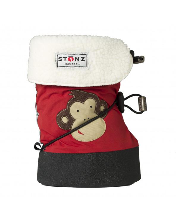 BUTY DLA NOWORODKÓW I NIEMOWLĄT Baby Booties - Monkey Brick Red Baby Booties Stonz®