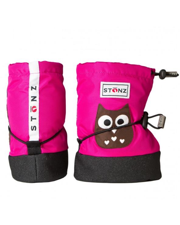 BUTY DLA NOWORODKÓW I NIEMOWLĄT Baby Booties - Owl Fuchsia Baby Booties Stonz®