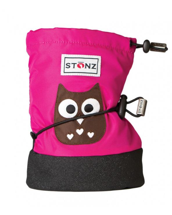 Sold Out          BUTY DLA NOWORODKÓW I NIEMOWLĄT Baby Booties - Owl Fuchsia Baby Booties Stonz®