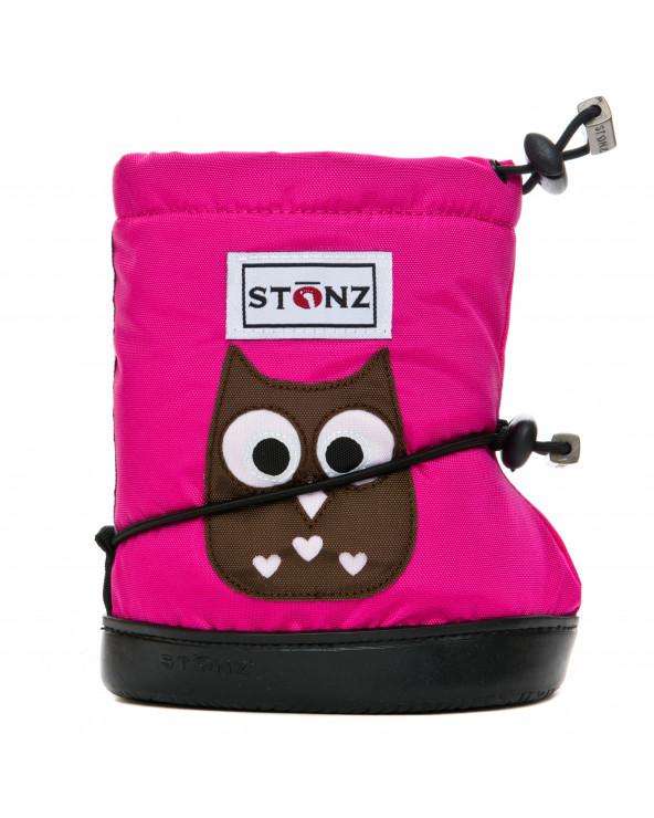 DZIECIĘCE BUTY STONZ TODDLER BOOTIES - Owl Fuchsia Toddler Booties Stonz®