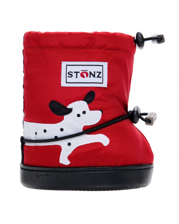 DZIECIĘCE BUTY Toddler Booties - Dalmatian Red Toddler Booties Stonz®