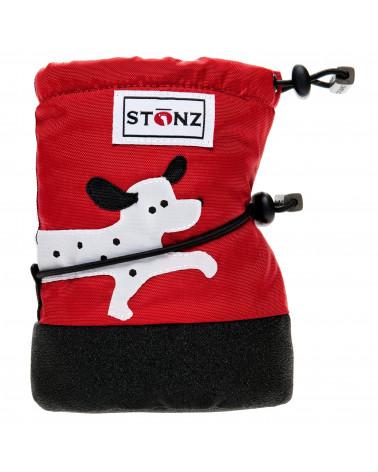 BUTY DLA NOWORODKÓW I NIEMOWLĄT Baby Booties - Dalmatian Red Baby Booties Stonz®