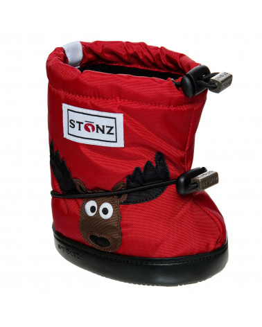 DZIECIĘCE BUTY STONZ TODDLER BOOTIES - Moose Red Toddler Booties Stonz®