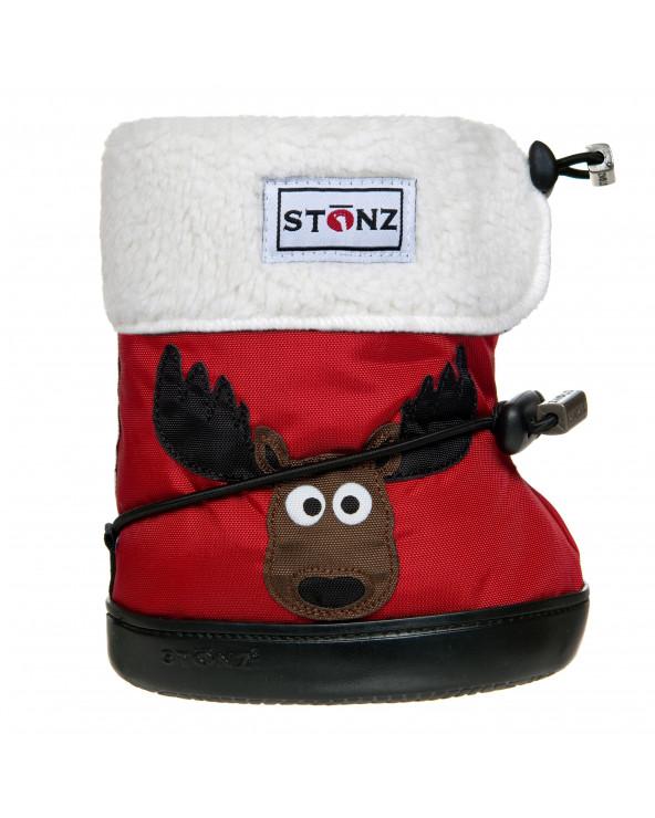 DZIECIĘCE BUTY Toddler Booties - Moose Red Toddler Booties Stonz®