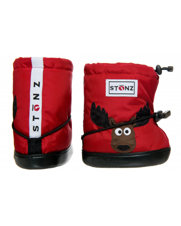 DZIECIĘCE BUTY Toddler Booties - Moose Red Toddler Booties Stonz®