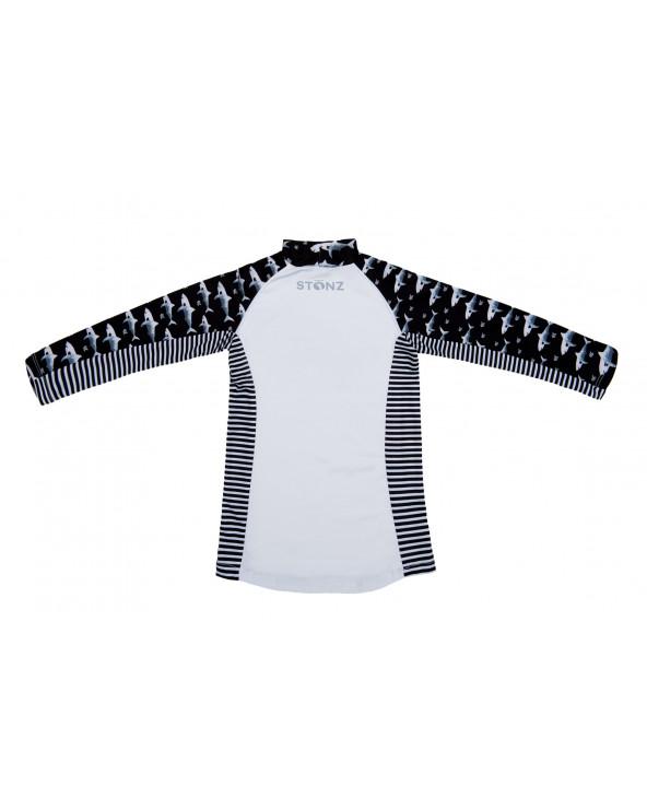 Koszulka plażowo-kąpielowa z filtrem UPF 50 - Black Shark Top Dziecięcy UPF 50 Stonz®