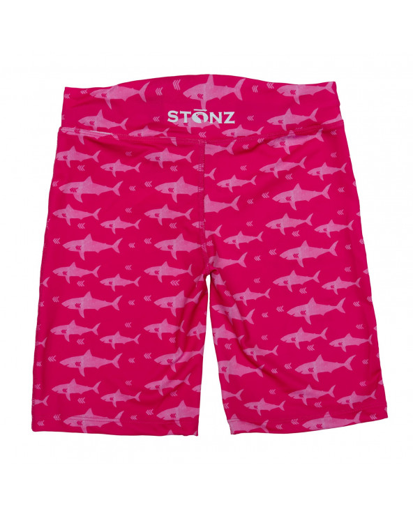 Szorty plażowo - kąpielowe z filtrem UPF 50 - Fuchsia Shark Szorty Stonz®