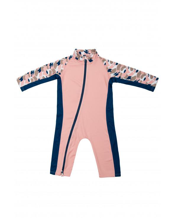 Kombinezon plażowo - kąpielowy z filtrem UPF 50 - Camo Pink Kombinezon przeciwsłoneczny Stonz®