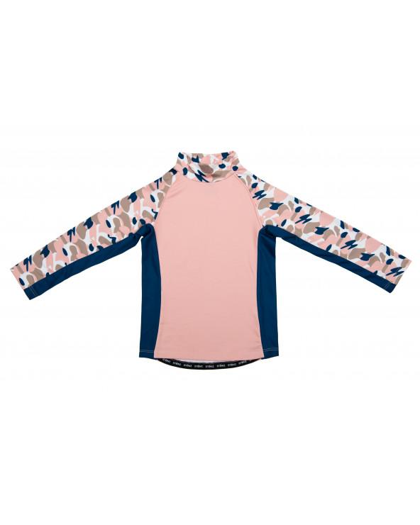 Koszulka plażowo-kąpielowa z filtrem UPF 50 - Camo Pink Top dziecięcy Stonz®