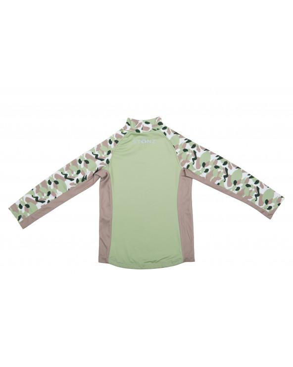 Koszulka plażowo-kąpielowa z filtrem UPF 50 - Camo Green Top dziecięcy Stonz®