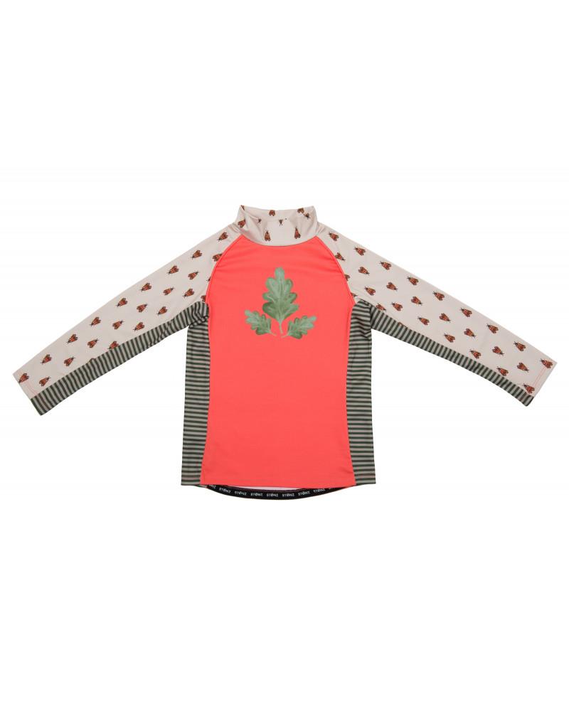 Koszulka plażowo-kąpielowa z filtrem UPF 50 - Forest Trail Coral Top dziecięcy Stonz®