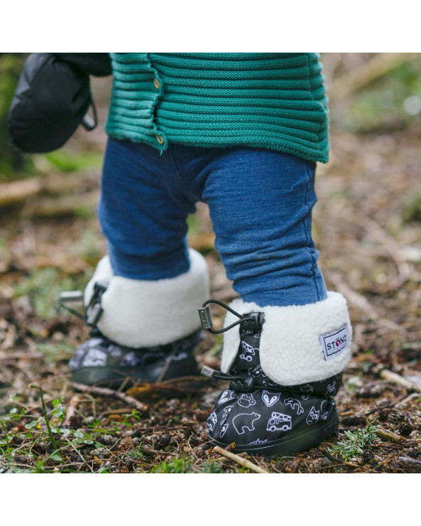 Sold Out          DZIECIĘCE BUTY Toddler Booties - Stonz Print Toddler Booties Stonz®