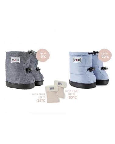 DZIECIĘCE BUTY Toddler Puffer Booties – Haze Blue Toddler Booties Stonz®