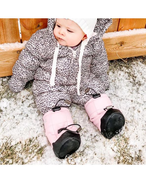 BUTY DLA NOWORODKÓW I NIEMOWLĄT Baby Puffer Booties – Haze Pink Baby Booties Stonz®