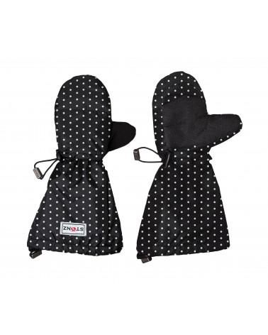 Rękawiczki Baby Mittz - Polka Dot Black&White Rękawiczki & Mitenki